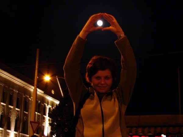 Zdjęcie - Księżyc nad Pragą