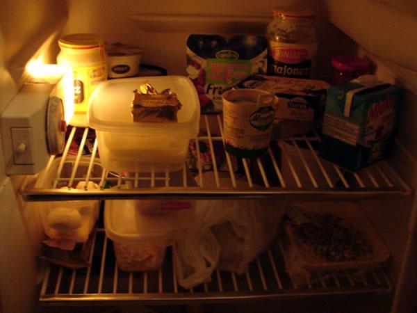 open your fridge