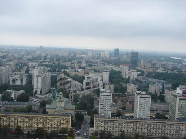 Widok z Pałacu Kultury