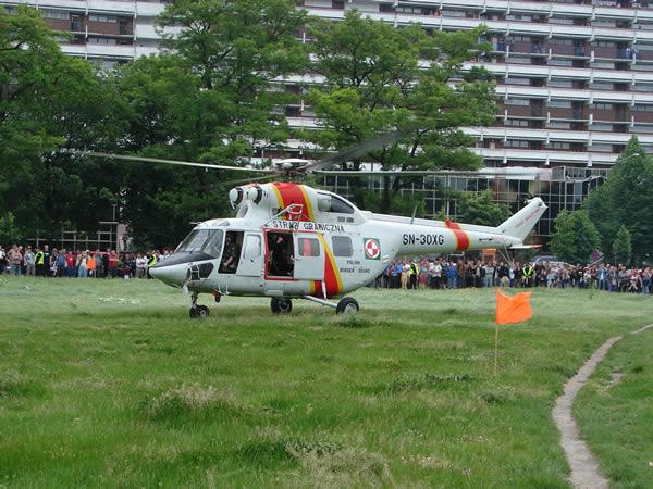 Helikopter wylądował