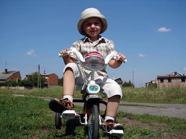 Marcinek rowerzysta