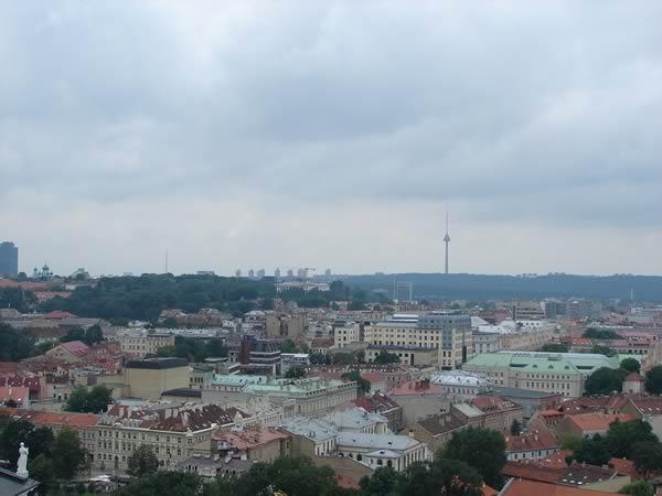 Widok na Wilno z Wieży Giedymina