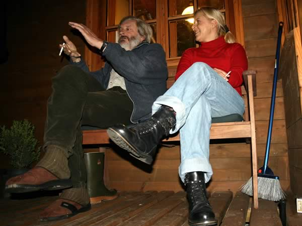 Właściciel przyjaznej noclegowni i Ania
