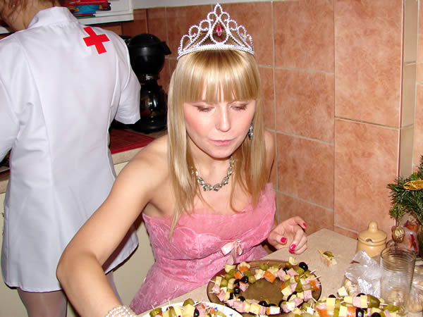 Królewna + koreczki