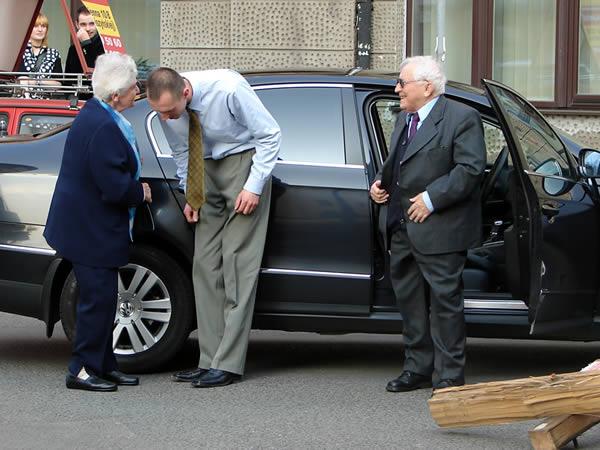 Przyjechał Tadeusz Różewicz z żoną