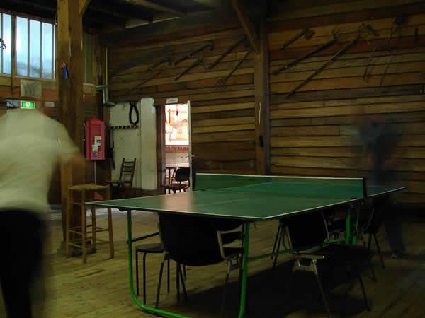 Ping-pong na campingu