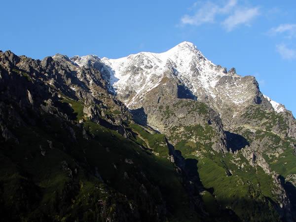 Koniec trasy - widok na góry
