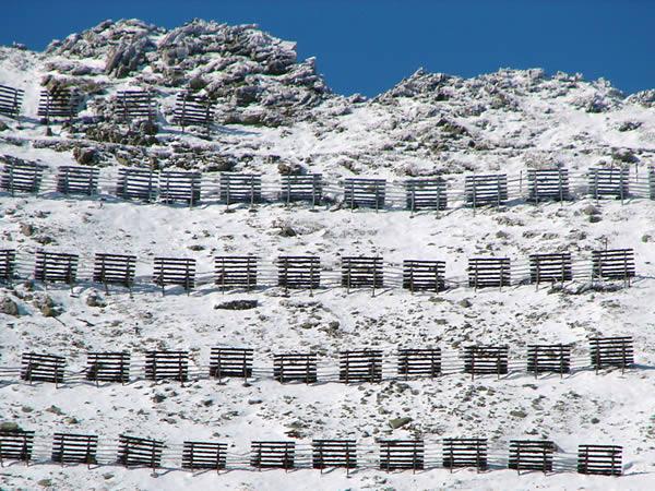 Śniegochrony na Łomnickiej Przełęczy
