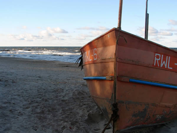 Zaparkowana łódź