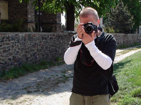 Michał trzaska fotkę jak robię jemu fotkę