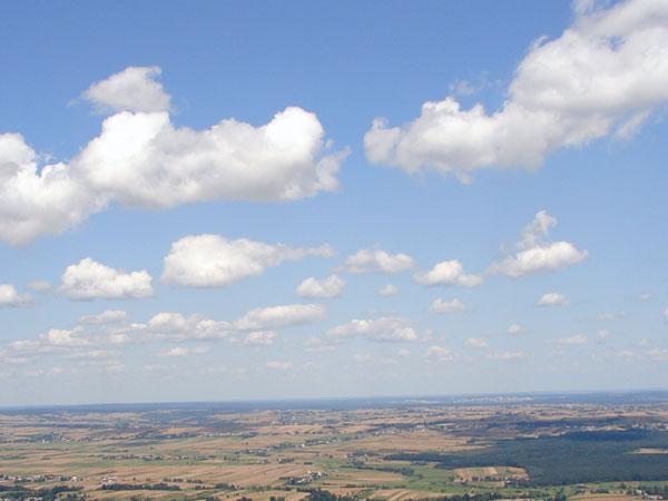 Chmury z Łysej Góry