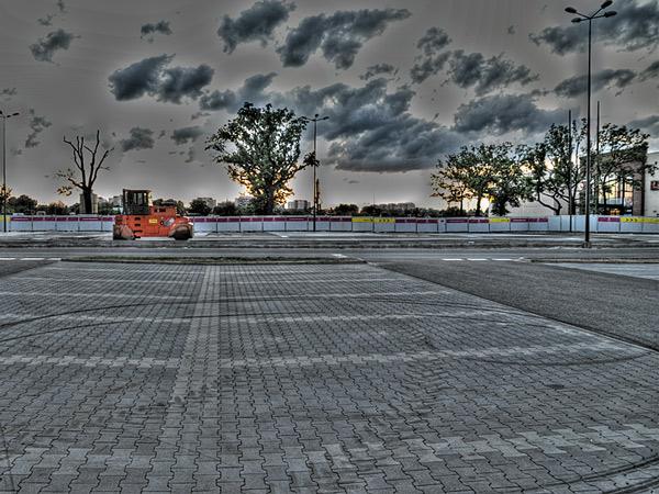 Zaparkingowany walec