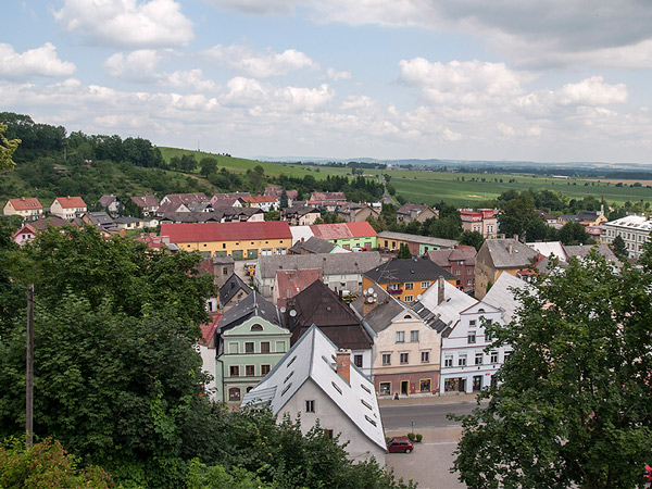 Widok z zamku na Javornik