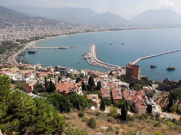 Port w mieście Alanya