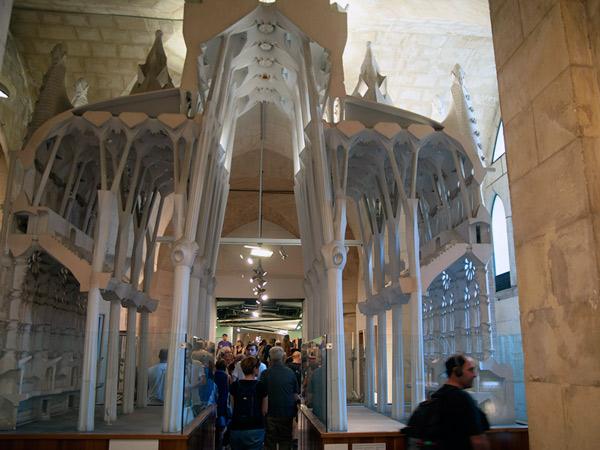 Przekrojowa makieta Sagrada Família