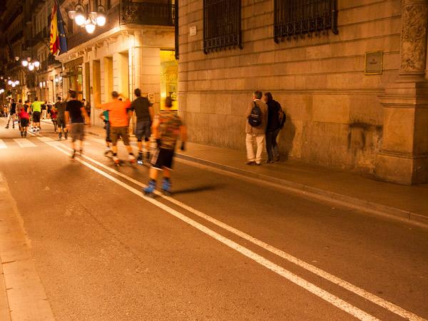 Nocna jazda Barceloną