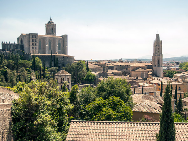 Girona z punktu widokowego