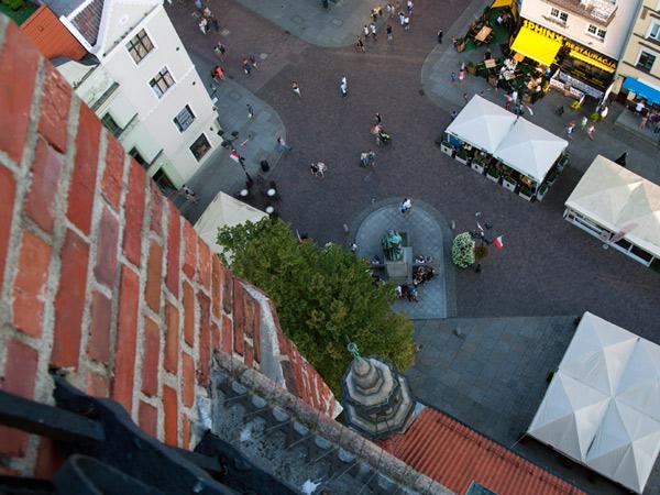 Toruń z wieży rartuszowej