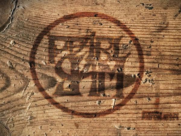 Pearl Jam tapeta drewniana